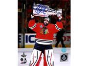 AJ Sports World CRAC10102B 8 x 10 in. Corey Crawford Chicago Blackhawks Autographed 2015 Stanley Cup Photo 9SIV06W6A00396