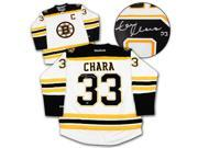 AJ Sports World CHAZ10200A Zdeno Chara Boston Bruins Autographed White Reebok Premier Hockey Jersey 9SIV06W69U6721