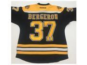 AJ Sports World BERP10200A Patrice Bergeron Boston Bruins Autographed Black Reebok Premier Jersey 9SIV06W6A31749