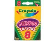 Crayola CYO523418 Neon Crayons, Assorted - 8 Count 9SIA00Y5U92113