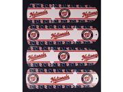 Ceiling Fan Designers 42SET-MLB-WAS 42 in. MLB Washington Nationals Baseball Ceiling Fan Blades
