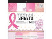 Me & My Big Ideas VCX48 8 x 8 in. Breast Cancer Awareness Single Sided Paper Pad, 24 per Pack 9SIA1CK7723903