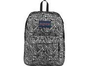 Jansport JS00TRS70ZY High Stakes Backpack - White Geo Flock