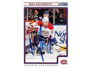 Autograph Warehouse 291302 Max Pacioretty Signed Hockey Card - Montreal Canadiens Captain 2012 Score No. 254 9SIV06W6E05136