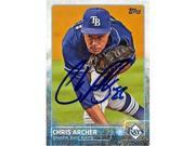 Autograph Warehouse 344667 Chris Archer Autographed Baseball Card - Tampa Bay Rays 2015 Topps No. 324 9SIV06W6DZ4756