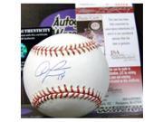 Autograph Warehouse 344488 Austin Jackson Autographed Baseball - OMLB Cleveland Indians Tigers Cubs JSA Hologram Authentication Certificate 9SIA00Y6DY5815
