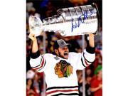 Schwartz Sports Memorabilia CAR08P401 8 x 10 in. Daniel Carcillo Signed Chicago Blackhawks 2013 Stanley Cup Trophy Photo 9SIA00Y6NB3179