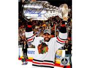 Schwartz Sports Memorabilia ROZ08P400 8 x 10 in. Michal Rozsival Signed Chicago Blackhawks 2013 Stanley Cup Trophy Photo 9SIV06W6NJ1932