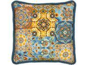 Dimensions 71-20081 14 x 14 in. Patterns On Blue Needlepoint Kit - Stitched in Wool 9SIA00Y6R55507