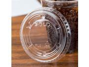 Dart PL4N CPC 4 oz Solo Ultra Lid for souffle Cup with No Slot - Clear, Case of 2500 9SIA00Y76K9533