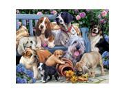 Vermont Christmas 198672 Jigsaw Puzzle Dogs On A Bench - 1000 Pieces 9SIA00Y7GC6322