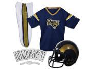 Franklin Sports 15700F35 Los Angeles Rams Youth NFL Deluxe Helmet & Uniform Set, Small