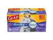 Glad CLO78531CT 13 gal Kitchen Trash Bag 34 Count - White