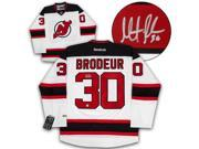 Autograph Authentic BROM13500B Martin Brodeur New Jersey Devils Autographed White Reebok Premier Hockey Jersey 9SIV06W80E9215