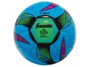 Franklin Sports 245029 Neon Brite Soccer Ball - Yellow, Red & Blue - Size 5