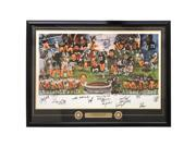 Sports Memorabilia 23574 20 x 39 in. Pittsburgh Steelers 53 Signed Framed Dynasty Lithograph PSA P00531