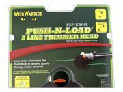 Weed Warrior Universal Push N Load 2 Line Trimmer Head