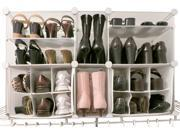 Luxury Living Modular Shoe Storage Organizer with Panels - Fit up to 22 pairs of shoes