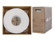 Cable Wholesale RG6 Coaxial Cable 18AWG  Solid  White 1000 ft Pullbox