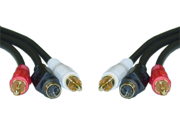 Cable Wholesale S-Video ( MiniDin4) Male + 2 RCA Male, S-Video & RCA Stereo Audio Cable - 6 ft