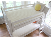 Naturepedic No Compromise Organic Cotton Twin 2 in 1 Ultra Quilted Trundle Short Kids Sleep Mattress 72 inch