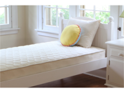 Naturepedic No Compromise Organic Cotton Quilted Deluxe Twin one Sided Kids Sleep Mattress
