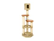 Armarkat 66 Soft Heavy Premium Condo House Pet Cat Tower Tree Furniture Khaki