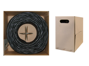 Cable Wholesale CAT5E UTP Bulk Cable, Stranded, 350MHz, 24 AWG, Black - 1000 ft