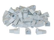 Cable Wholesale RJ45 Strain Relief Boots - Gray (50 Pcs Per Bag)