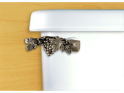 FunctionalFineArt Satin Pewter Grapevine Toilet Handle - Angled Tank Mount