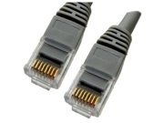 Category 5E, Gray Ethernet Network, Patch Cable, Molded Snagless Boot, 50 feet
