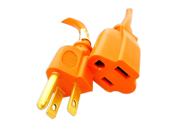 16 AWG Power Cord Extension - 3 Prong - Indoor/Outdoor Heavy Duty Orange - 25 Feet