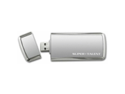 Super Talent 64 GB SuperCrypt USB 3.0 Plug and Play Flash Drive (ST3U64SCS-64GB) - Gray