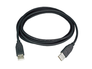 Ziotek USB 2.0 Cable A Male to A Male  6 Ft - Black