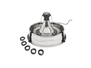 Drinkwell Stainless Steel 360 Fountain Provides Fresh Filtered Water