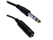 """Offex Wholesale 1/4"""" Stereo Male to 1/4"""" Stereo Female, 25 ft"""