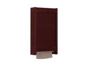 Wooden Mallet C-Fold / Multi-Fold Paper Towel Dispenser Kit Mahogany
