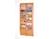 Wooden Mallet Cascade 20 Pocket Magazine Display Rack Light Oak
