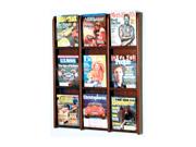 Wooden Mallet Divulge 9 Magazine Wall Display Stand / Rack Mahogany