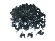 Cable Wholesale RG6 Cable Clip, Black (100 pieces per bag)
