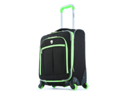 """Olympia O-Tron 18"""" Expandable Outdoor Travel Carry-on Luggage suitcase set in Lime"""