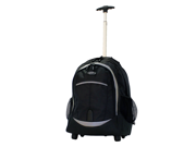 Olympia RP-3300-BK 19 inch Rolling Carry-On Wheeled Travel Backpack Luggage / Book Bag in Black