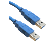 Offex USB 3.0 Cable, Blue, Type A Male / Type A Male, 6 foot