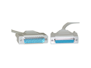 Offex Serial Extension Cable, DB25 Male to DB25 Female, RS-232, UL rated, 1:1, 3 foot