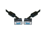 Offex SVGA Cable with Ferrites, Black, HD15 Male, Coaxial Construction, Double Shielded, 15 foot