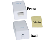 Offex Blank Surface Mount Box for Keystones, 1 Hole, White
