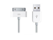 Cable Wholesale Apple Authorized White iPhone, iPad, iPod USB Charge and Sync Cable, 6 foot