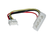 Cable Wholesale 4 Pin Molex to Floppy Power Cable, 5.25 inch Male to 3.5 inch Female, 6 inch