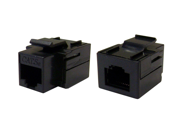 Cable Wholesale Cat 5e Keystone Inline Coupler, Black, RJ45 Female