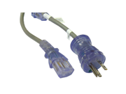 Cable Wholesale Hospital Grade, Green Dot, Power Cord, 14 AWG, SJT, 15 Amp / 125 Volt, 6 Foot